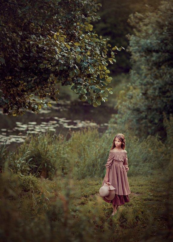 девочка, вечер, лето, детский фотограф, портретный фотограф photo preview