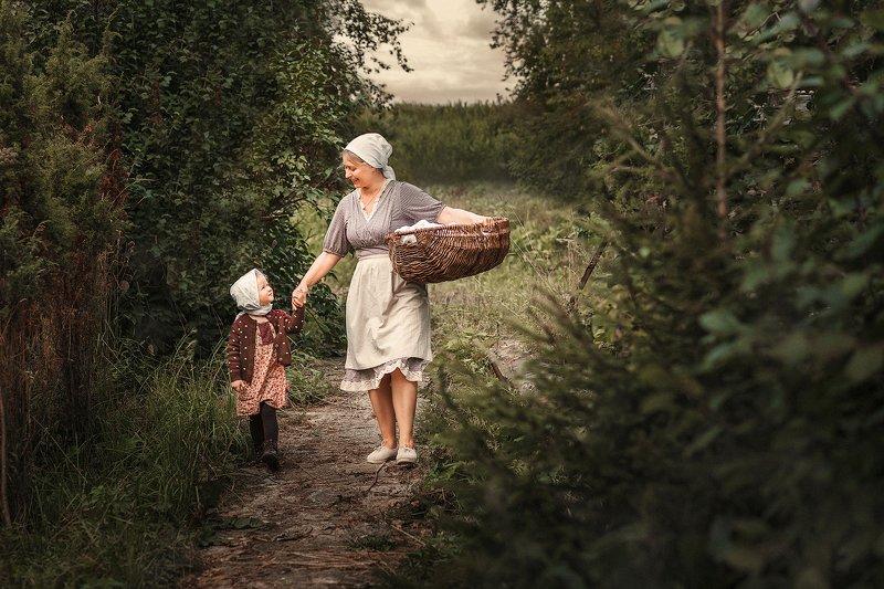 мама, мама и дочка, семья, kids, деревня \