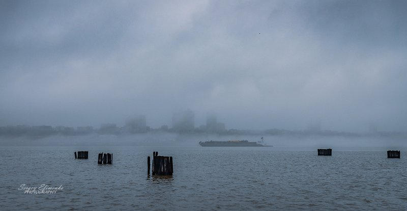 new jersey, fog, туман Gostly cityphoto preview