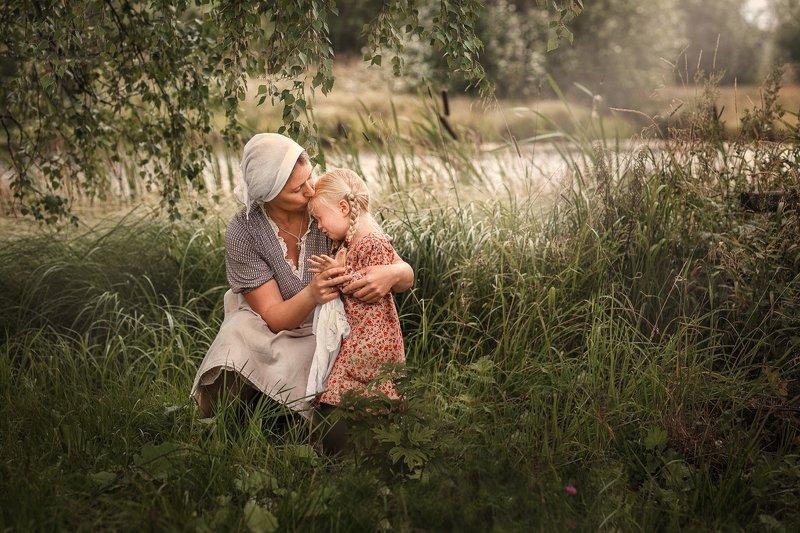 kids, дети, children, деревня, мама и дочка \