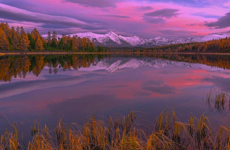киделю, алтай, осень, закат, Закатный Киделюphoto preview