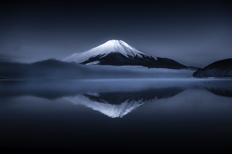 Fuji,mountain,Japan,reflection,water,lake,cloud,fog,snow,beautiful,amazing The calm of reflectionphoto preview