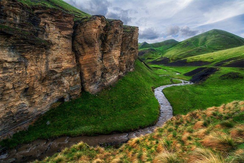 природа, пейзаж, горы, кавказ, природа россии, дикая природа, облака, весна, река, *photo preview