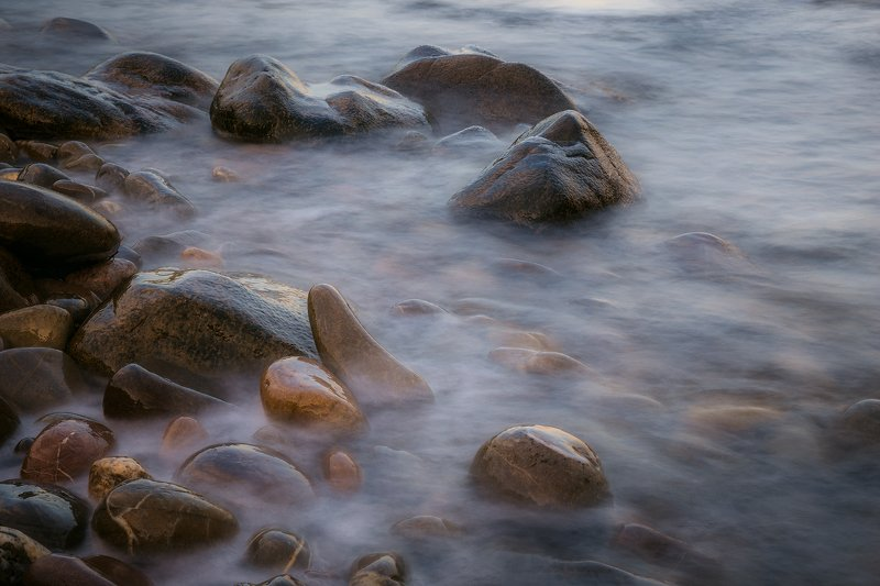 крым, пейзаж, лето, вода, море, вечер, камни, сотера, Камушкиphoto preview