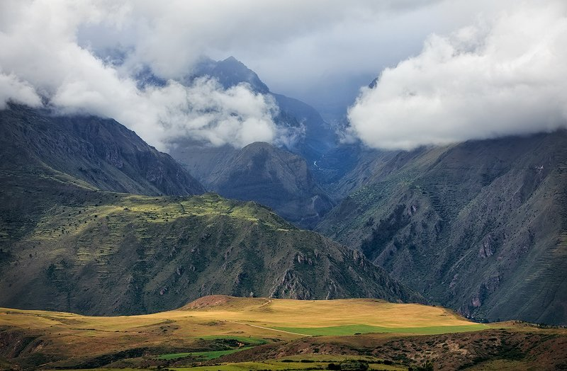 Peru, Andes, Cusco, mountains, mountain range, autumn, landscape, nature, inspiration, outdoor, scenery Stunning view on the Andes. Districts of Cusco. South Americaphoto preview