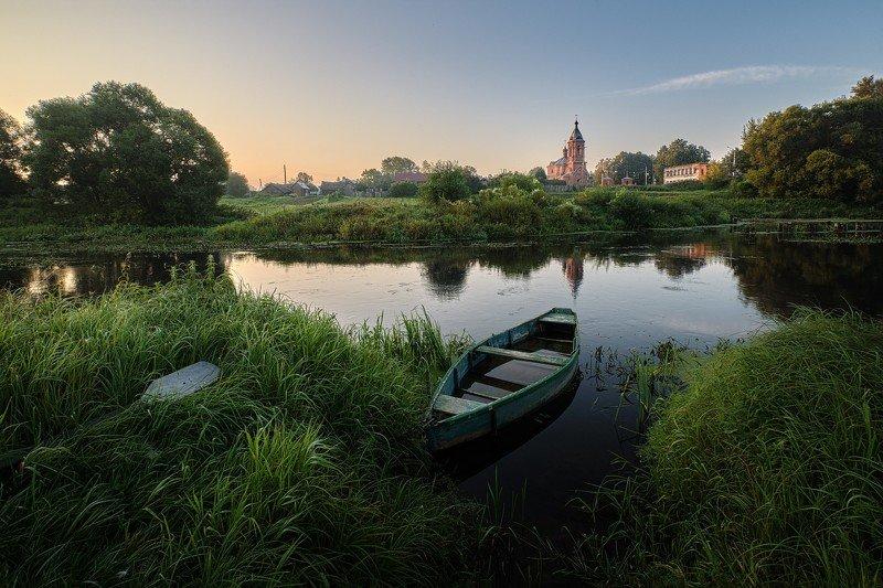 пейзаж, с, лодкой Пейзаж с лодкой фото превью