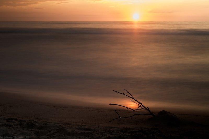 природа, пейзаж, море, закат, вечер, балтика, минимализм, minimalism, nature, seascape, landscape, sunset, evening, longexposition, orange, ***photo preview