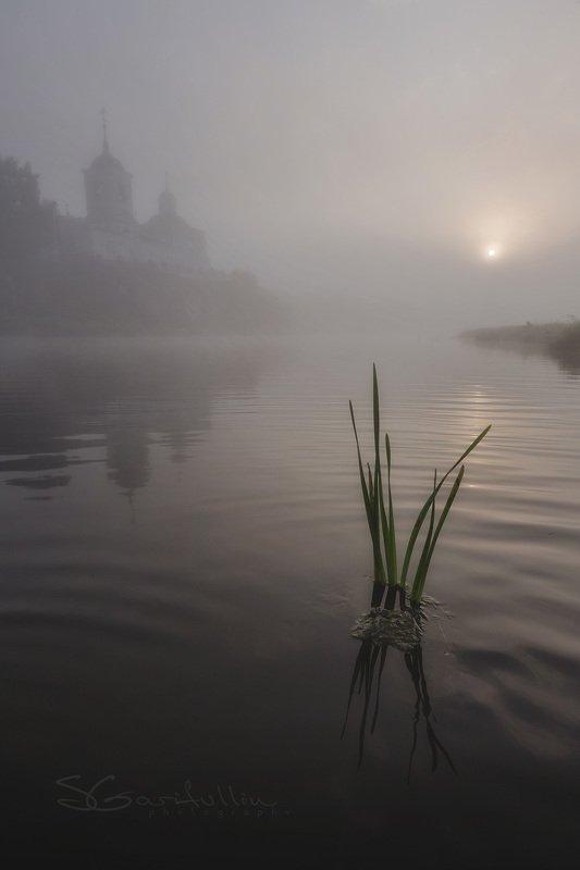 слобода, чусовая, урал, средний урал, туман, церковь Слободаphoto preview