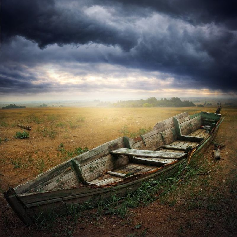 lithuania, oblivion, boat, cracked, wood, landscape, nature, light, alone Living in Oblivionphoto preview