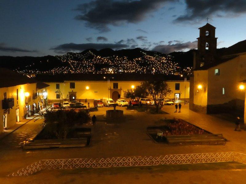 ночь, куско, перу, город, огни, путешествия Ночной Кускоphoto preview