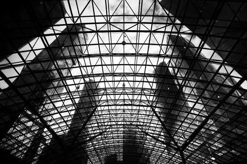 город, архитектура, чб, монохром  Ghost in the Shellphoto preview