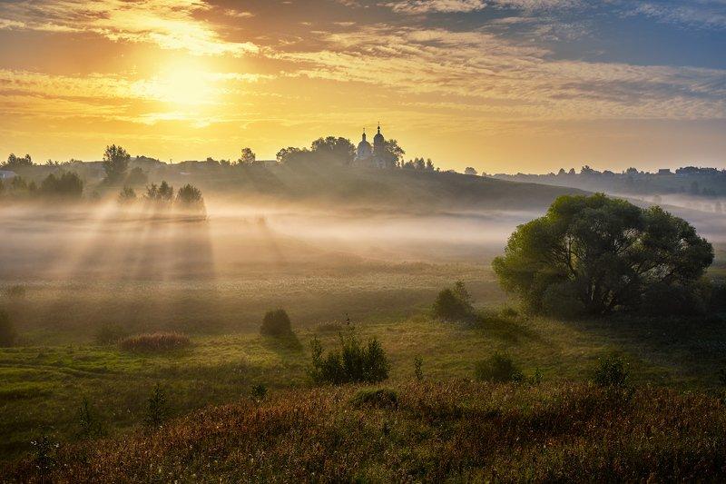 Солнце и туман фото превью