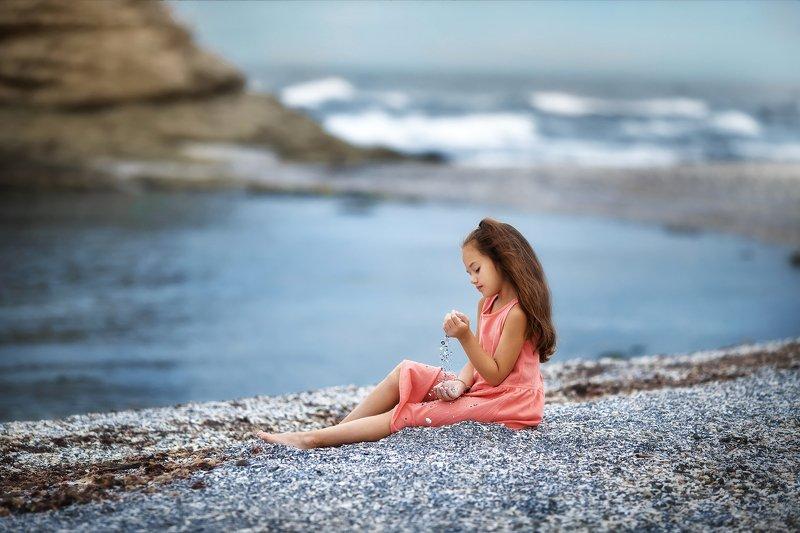 Море, девочка, камни, модель, красота Мореphoto preview