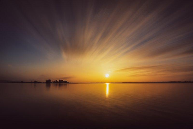 clouds sky sunrise dawn рассвет вода облака небо Sky Painterphoto preview