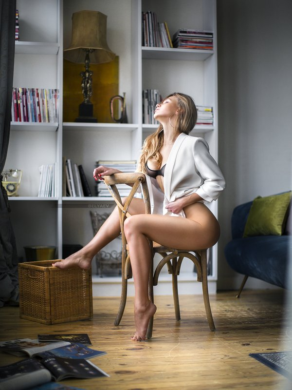 Woman, sensual, jacket Nastyaphoto preview