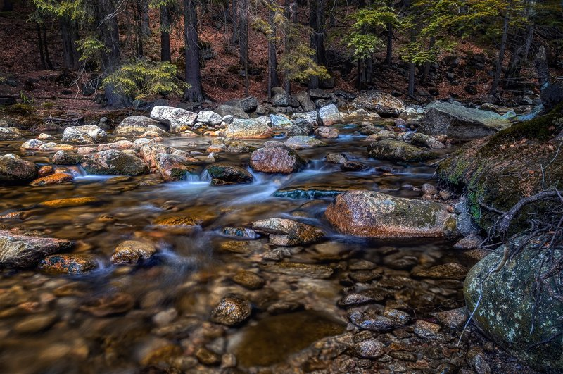 Природа, лес река вода водоём камни лето водопад Мумлавские порогиphoto preview