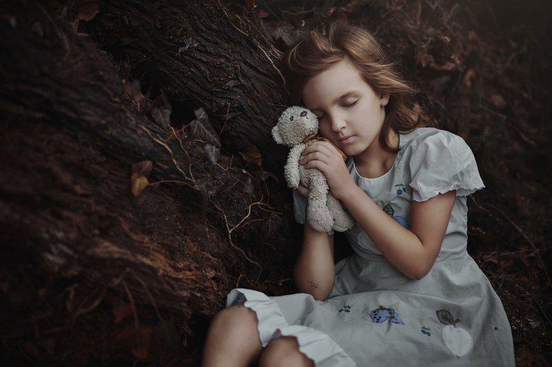 девочка, сон, мишка, вудди Vphoto preview