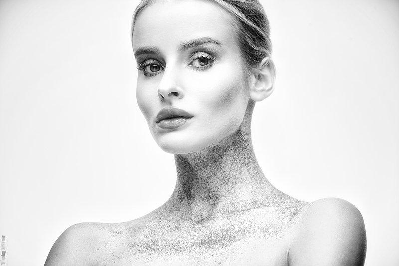 девушка, портрет, girl, portrait, бьюти, beauty, черно-белое Katephoto preview