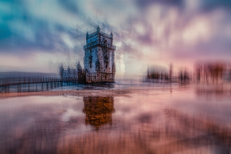city, abstract, conceptual , lisbon, portugal, architecture, old , monument, building Belem towerphoto preview