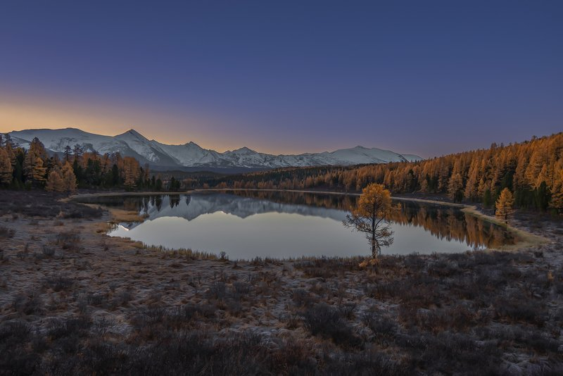 алтай,горный алтай, осень, рассвет, киделю Рассветный Киделюphoto preview