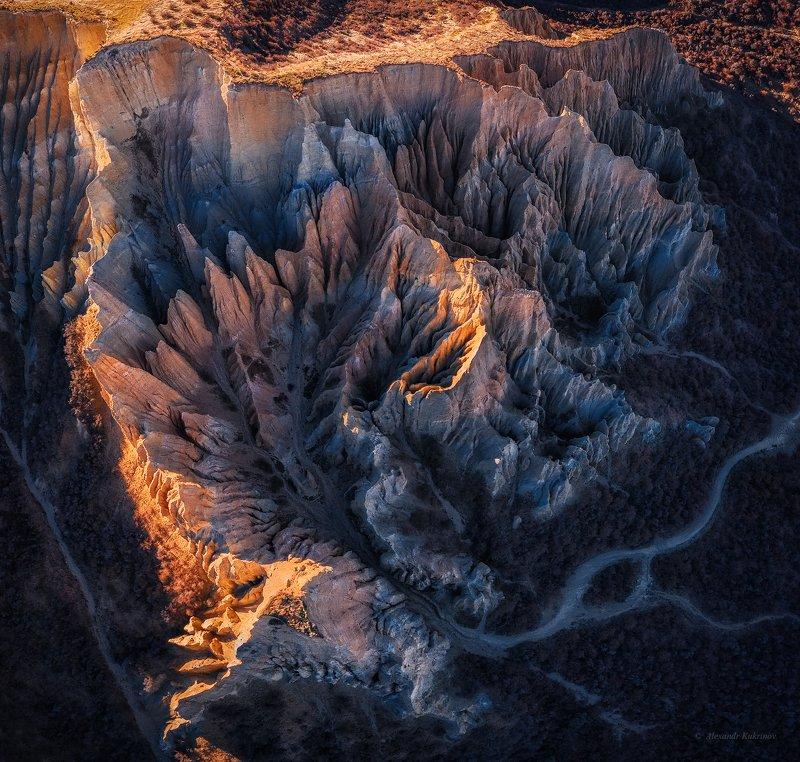 новая зеландия,clay cliffs Каменный цветок...photo preview