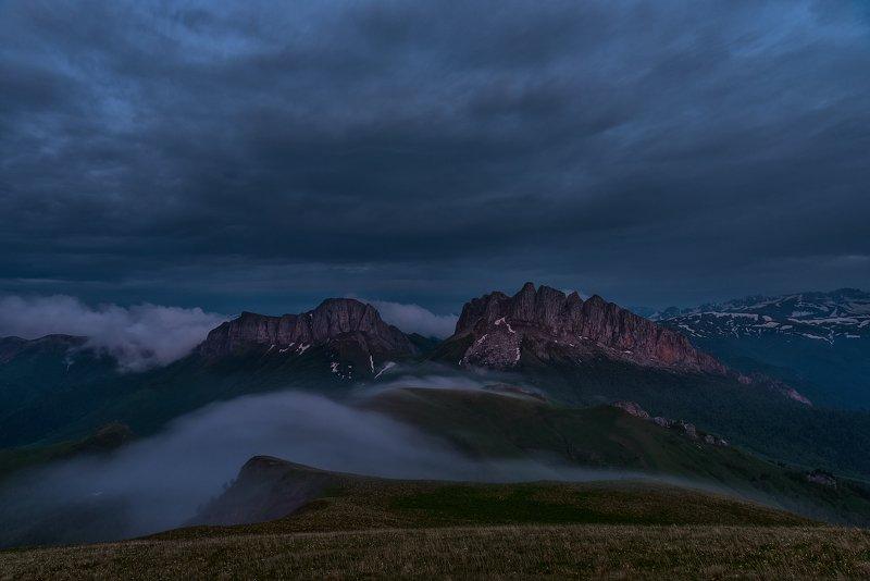 закат, большой тхач, малый тхач, асбестная, горы, пейзаж, рассвет, кавказ, адыгея, ачешбоки, Ачешбоки (Чёртовы ворота)photo preview