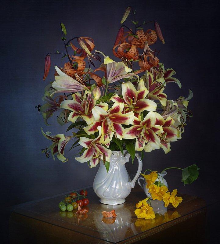 натюрморт,цветы,лето,вера павлухина, Лилииphoto preview