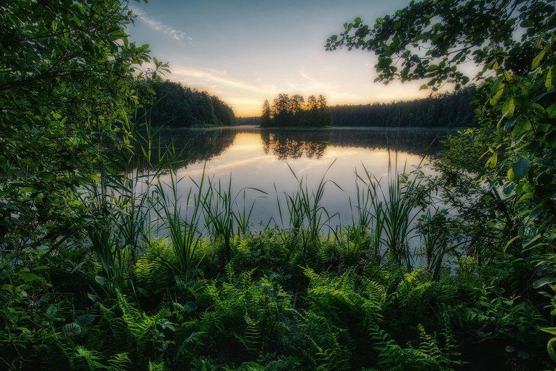 Озеро на рассветеphoto preview