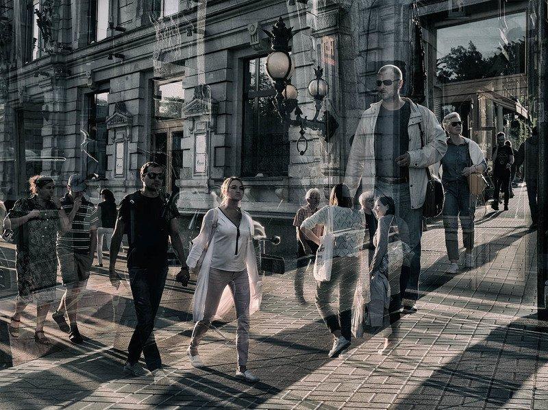 Санкт-Петербург, центр, улица, люди Пересеченияphoto preview