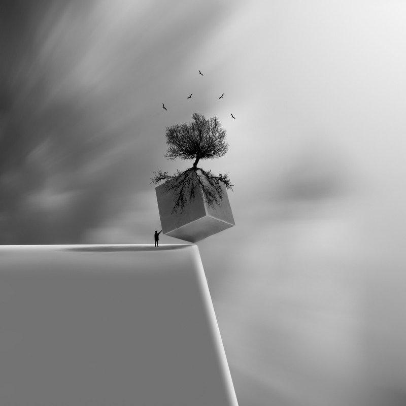 #35photo #surrealart#ps_fantasy#art_minimal #bnw_dream #photography#minimalism#conceptual#fineart #instagram#iranfeature#bnwminimalismmag#art_digital #ir_photographer#ir_aks #photographize#blackandwhite#bnw_greatshots  #surreal#hadimalijani#art#fantastic_ Cube фото превью