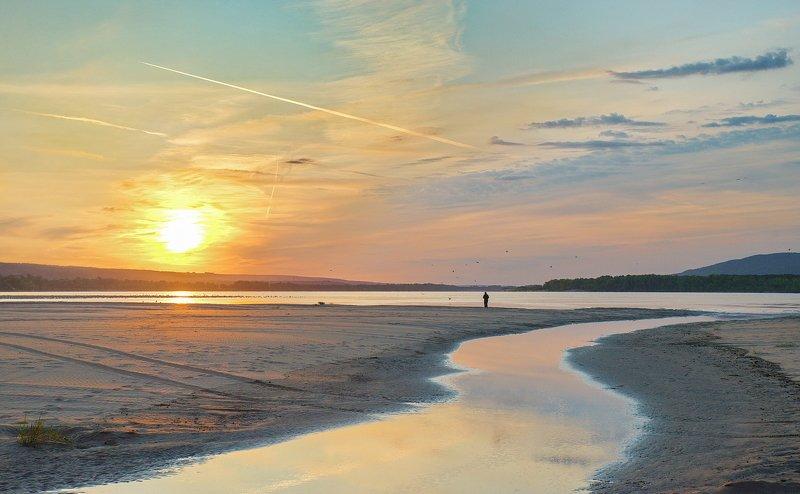 утро, рассвет, восход, волга Утром на Волгеphoto preview