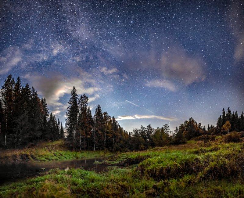 звезды, млечный путь, ночь, астрофото, река река Гордеевкаphoto preview