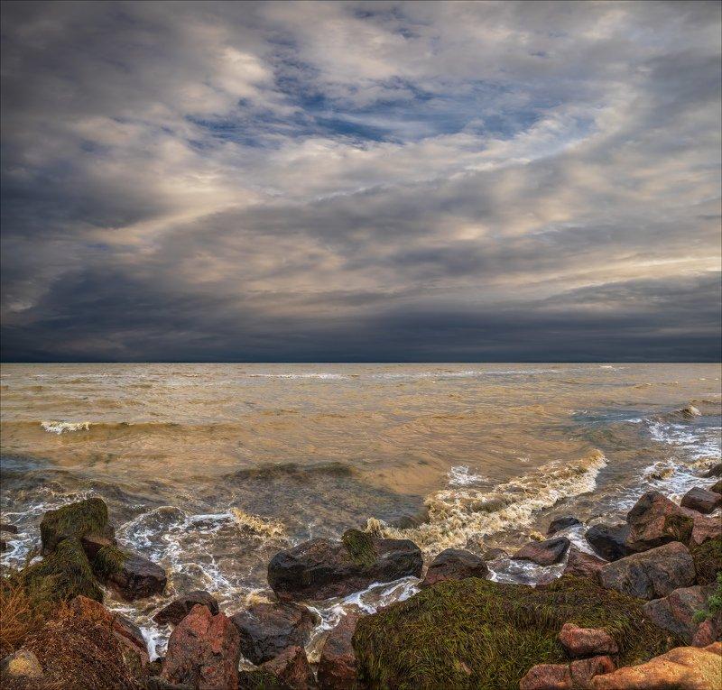 лето, море, волны, Штормит на Азовском...photo preview