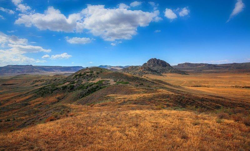 горы,долина,пейзаж,природа,степь,дагестан. Прерии\