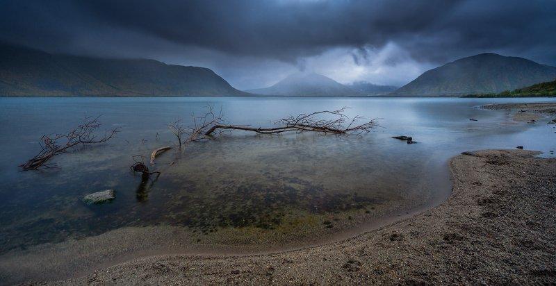 пейзаж,озеро,отражение,горы,облачно,хибины,россия Озеро Большой Вудъяврphoto preview
