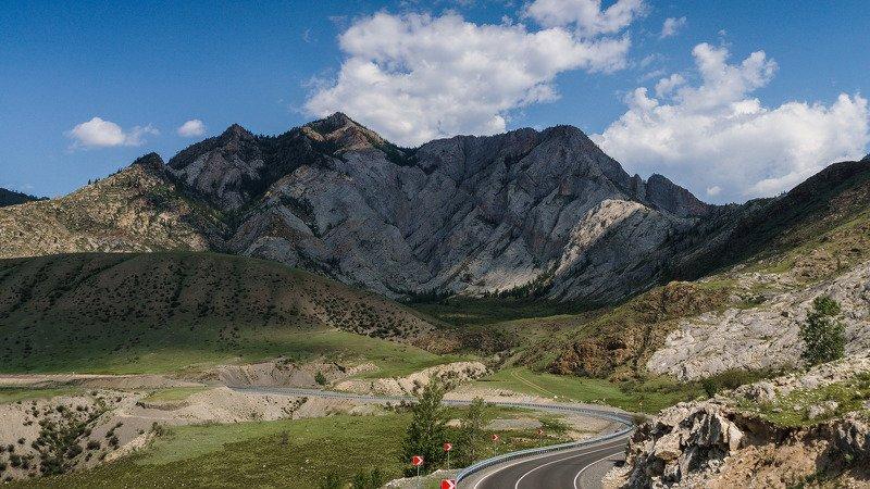 пейзаж, горы, дорога облака, Чуйский тракт  Свет и тень. photo preview