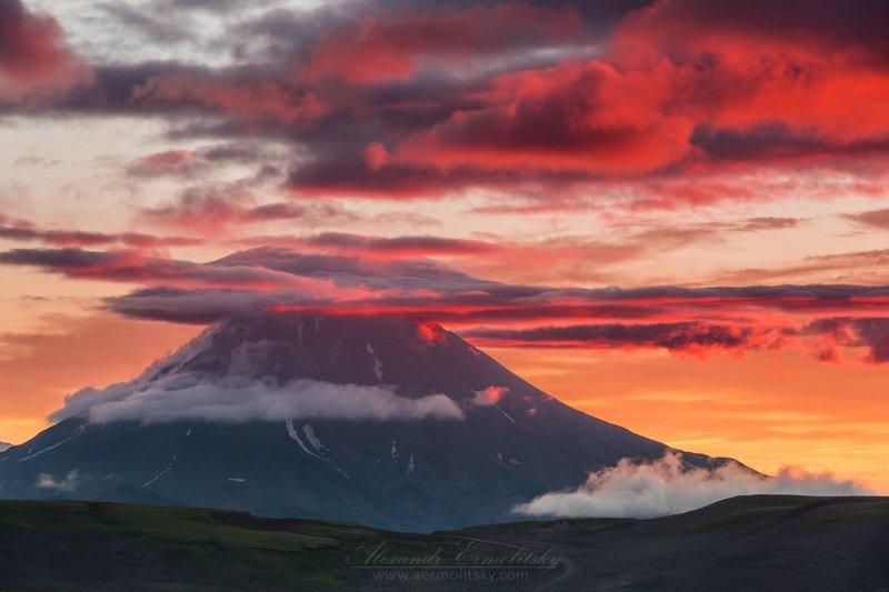 камчатка, kamchatka, дальний восток, far east, вилючинский, vilyuchik ~ Извержение рассвета ~photo preview