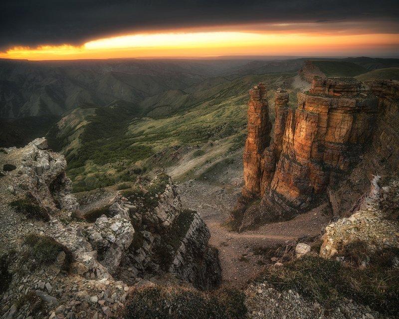 закат, горы, плато, кавказ, пейзаж, карачаево-черкесия, бермамыт Другая Земляphoto preview