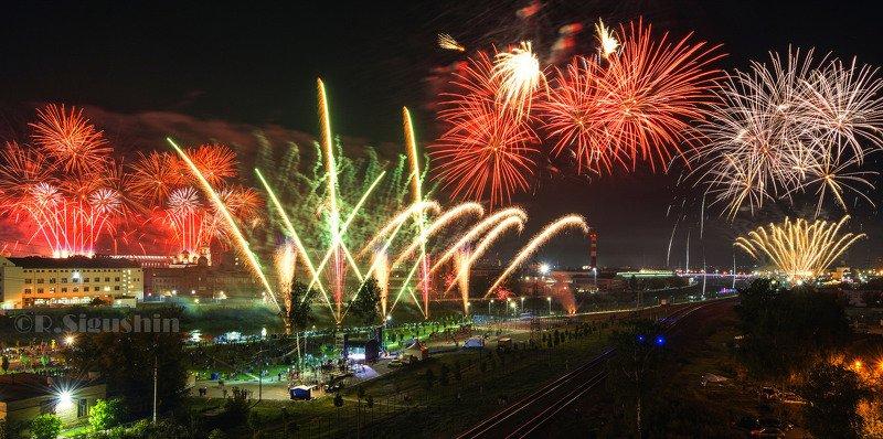 Тула. Фейерверк на День Города.photo preview