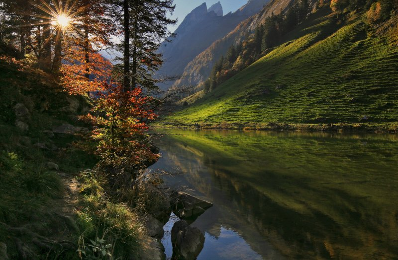 швейцария, альпы, горы Альпийская осеньphoto preview