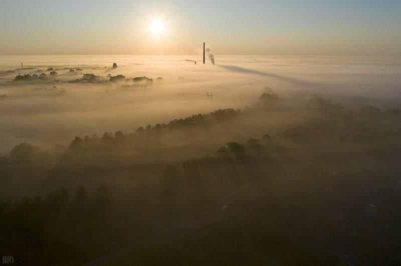 Туман на городом.photo preview