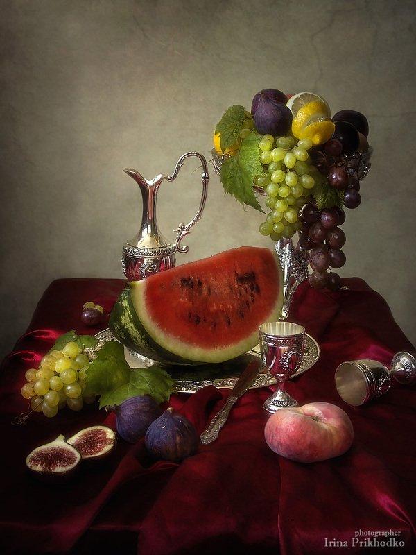 натюрморт, стиль барокко, фрукты, винтажный натюрморт,  Летнее изобилиеphoto preview