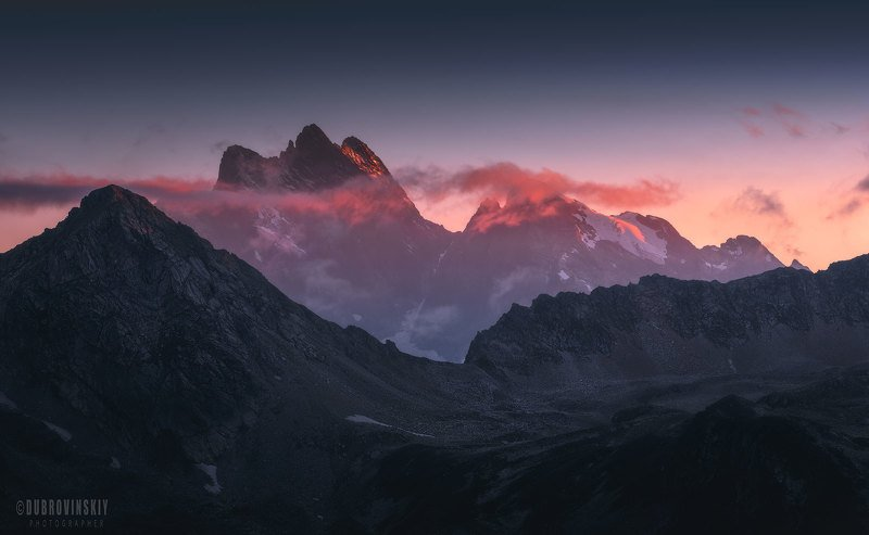 тебердинский заповедник, кавказ, горы, закат Кавказские сказки фото превью