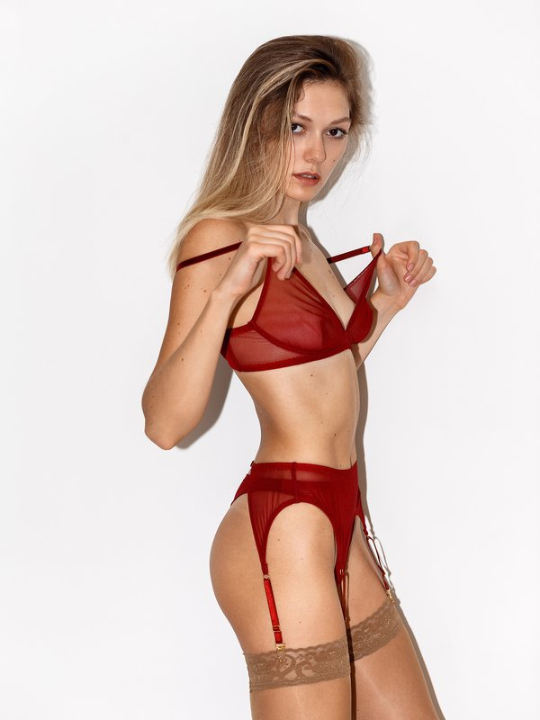 girl, flash, underwear, white wall, model, test, model test, red, shape, body, nice Ardor Atelier фото превью
