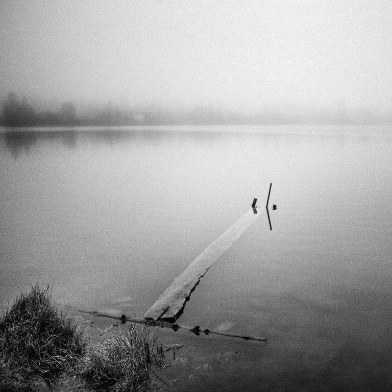 туман, озеро, утро, кладка | Утром |photo preview
