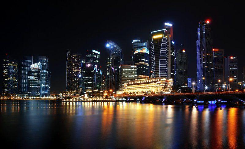 сингапур, ночь, город, singapore Central Singapurephoto preview