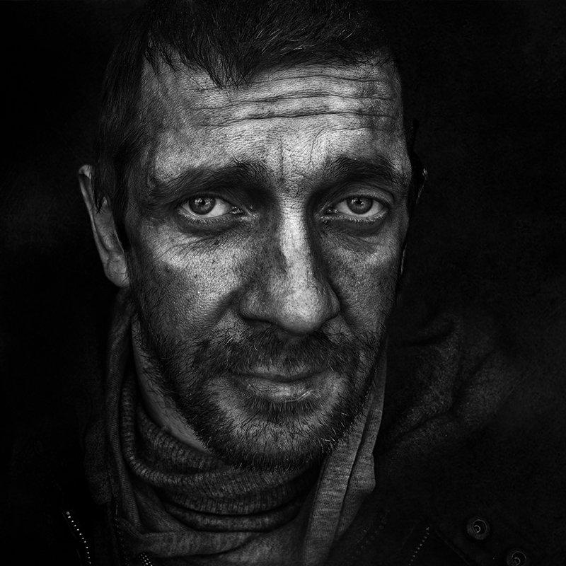 портрет, юрий_калинин, лица, черно_белое, юрец, уличная_фотография, люди Сергей фото превью