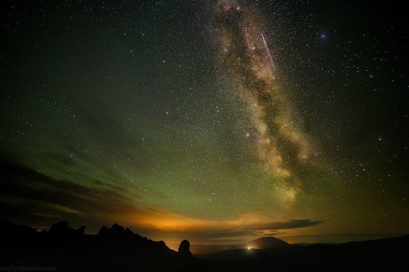 ночь, урал Ночь в Уральских горахphoto preview