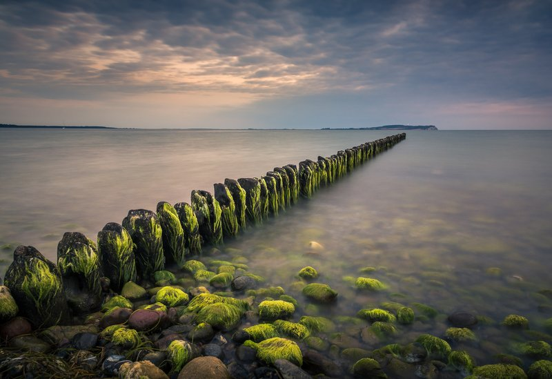 baltic, sea, water, waves, sunset, breakwaters, rugen Baltic breakwaterphoto preview