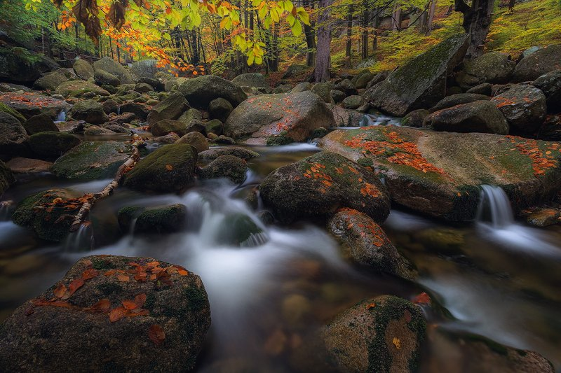landscape,canon,mist,light,autumn,waterfall These Softness Waves...photo preview